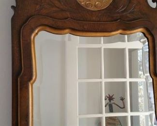 Hall table mirror. Caledonian   measures 18 x 41 high. Vintage - like new condition.