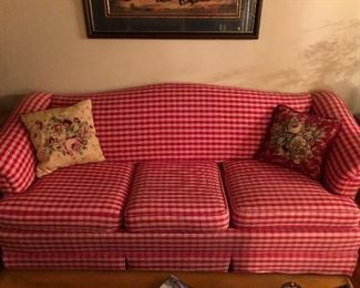 North Carolina gingham sofa