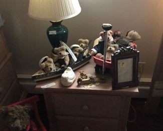Boyd's bears and nightstand