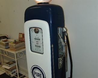 Side view of gas pump
