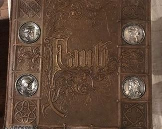 C. 1870 German leather-bound edition of Faust
