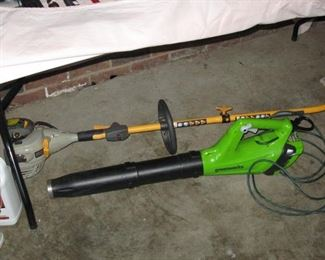 RYOBI WEEDEATER AND BLOWER