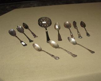 ANTIQUE STERLING SILVER FLATWARE