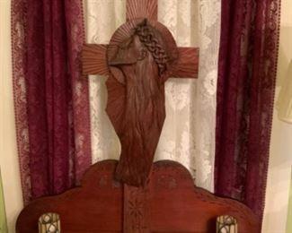 Unique hand carved religious alter / statue.