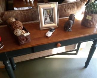 Sofa table, matching coffee table