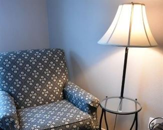 Accent Chair, Ottoman, Lamp Table