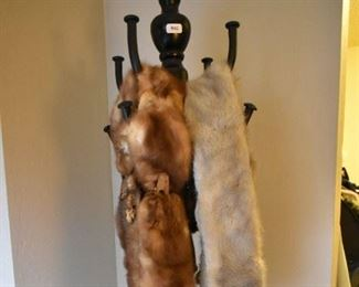 Coat Rack, Fox shawls