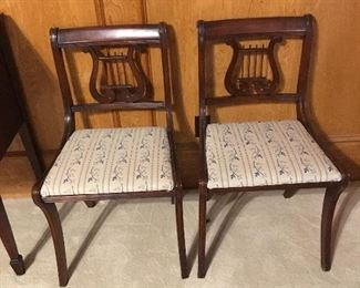 Vintage 1940's Regency style dinning chairs