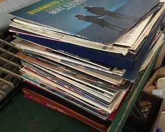 Vintage record LP albums