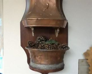 19th century French copper font with double spouts.