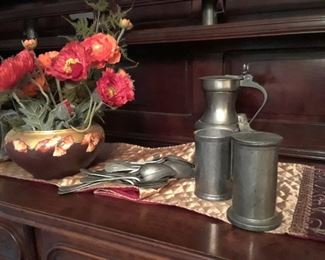 18th century pewter and accessories.