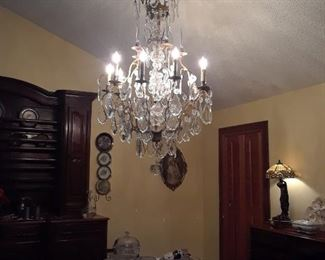 Large late 18th/early 19th century Baccarat chandelier.
