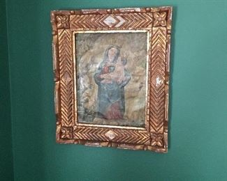 Beautiful blessed mother and child painting from rural  Columbia