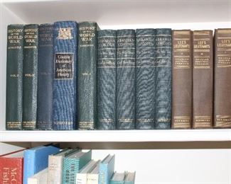 Lee's Lieutenants,  Lincoln the War years four volume set, History of the World War collectible books
