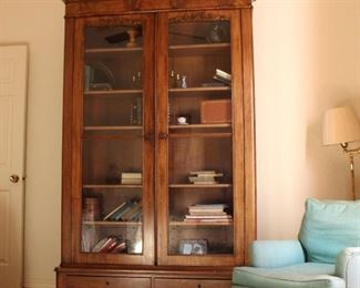 over 7' tall Victorian bookcase