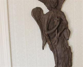 metal angel wall hanging