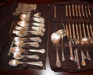 over 110 pieces of Gorham Chantilly sterling, removed from presses every night.
