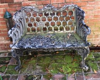 small vintage outdoor settee