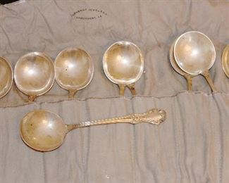 Another set of cream soup sterling spoons
