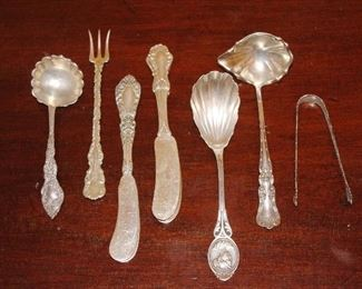 More serving pieces that are sterling