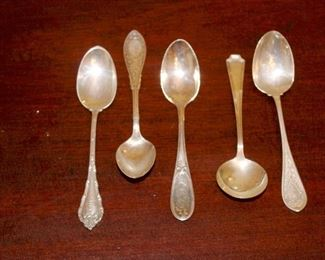More sterling spoons