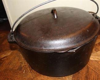 Large cast iron Dutch oven