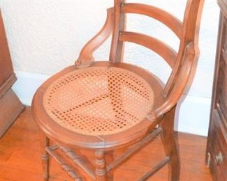 CANE SEAT ANTIQUE CHAIR