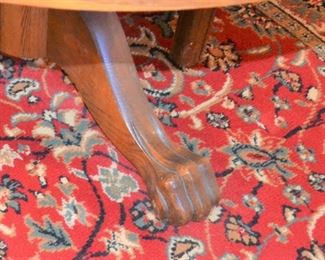 OAK DINING TABLE FOOT