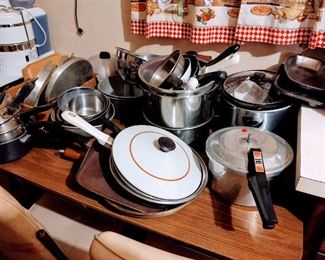 All Pots, pans, pressure cooker, lids.