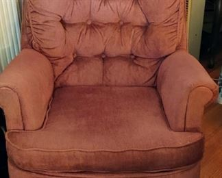 2 burgundy Swivel Chairs