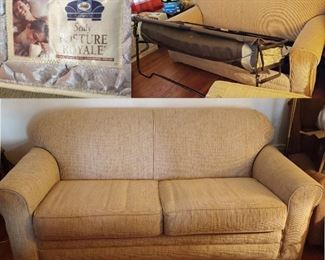 Sealy Posture Royale sleeper sofa in great condition. It has always been  covered. The picture color is off some. It is a tan shade. The mattress is very clean.