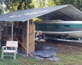 metal carport / boat