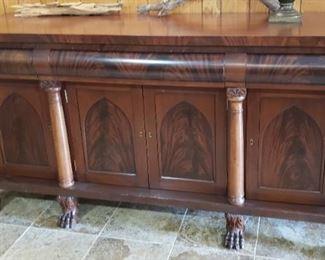 antique mahogany buffet