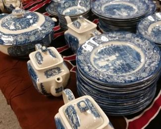 Large lot of Liberty blue