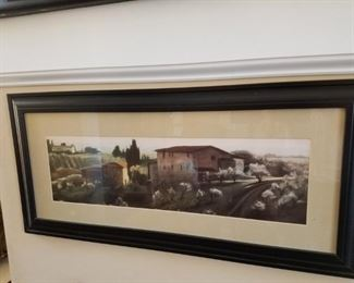 One of several beautiful Italian and Tuscan countryside prints.
