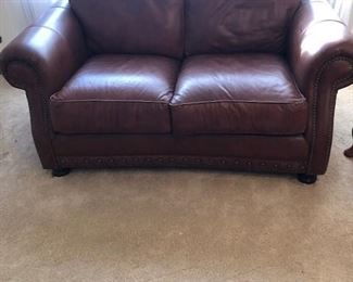 Leather sofa, loveseat and chair/ ottoman were purchased from Steinhafels Kenosha, WI