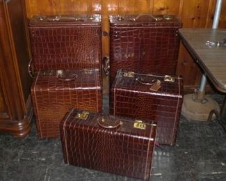 alligator leather luggage by Horn