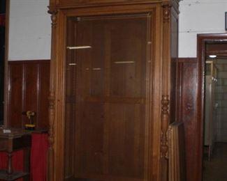 9ft beveled glass door regency revival bookcase with dragons