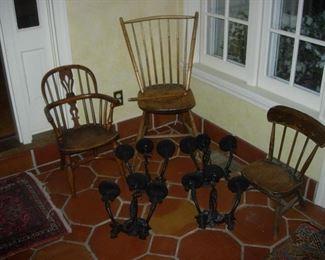 The kids gotta' sit somewhere, sconces wrought iron