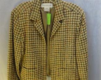 Jones New York, Rust/Beige Tweed Jacket