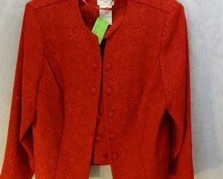 ANN TRAVIS, Embossed Floral Jacket