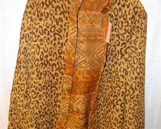 E S Reversible Jacket, Animal Print/Aztec