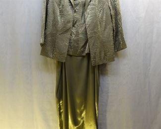 ALEX E.V.E.N.I.N.G.S  Fawn Ripple Gown & Jacket