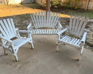 vintage outdoor furniture, there is other outdoor furniture as well