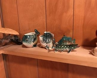 Lefton fish figurines