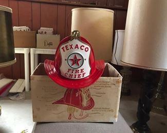 Texaco Fire Chief helmet with box