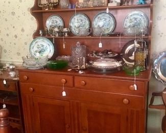 Incredible Cherry set-back cupboard - hand-made.  Lots of sit-abouts.