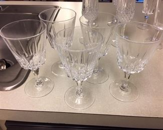 Crystal glassware set of 5