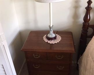 Stickley night stand part of matching Full size four poster bedroom set