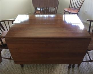 Stickley drop leaf cherry dining set - table pictured